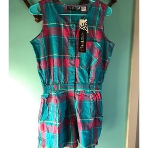 VTG 80s Deadstock Plaid Romper